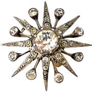 Antique European Sterling paste star brooch like the Queens diamond  Jardine Star