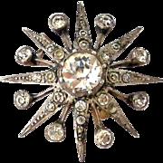 Antique European Sterling paste star brooch like the Queens diamond  Jardine Star