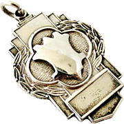 Sterling silver art deco style watch fob 1950