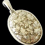 Antique locket Austro Hungarian 800 silver