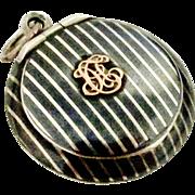 Antique European 900 silver niello little box locket