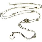 French art nouveau 55 inch lorgnette chain in 800-900 silver