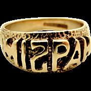 Vintage English 9k gold MIZPAH ring