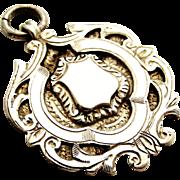 Art deco era sterling silver watch fob pendant