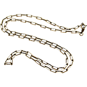 Vintage art deco European sterling silver chain , 22 inch.