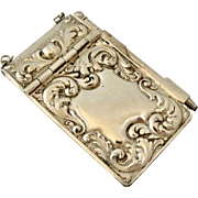 Art nouveau antique  French silver plated aid memoir or carnet de bal