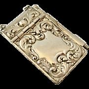 Art nouveau antique  French silver plated aid memoir or carnet de bal