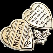 Edwardian English sterling silver Mizpah