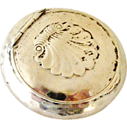 Danish arts and crafts silver compact or pill box by Hugo Grun/Grün of Copenhagen