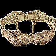 Pretty vintage German 835 silver filigree bracelet
