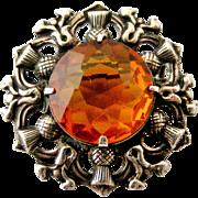 Victorian Scottish sterling silver Cairngorm brooch