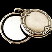 French antique 800-900 silver slide mirror locket