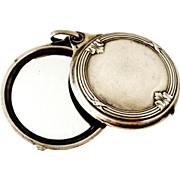 French antique 800-900 silver slide mirror locket