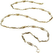 French antique 800-900 silver chain 29 inch long