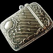 European 800 silver art nouveau match safe - Red Tag Sale Item