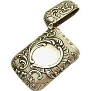 Antique French small size vesta match safe in 800 silver