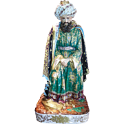 Unusual Huge Porcelain Figurine Of Sultan undoubtedly by Jacob Petit.