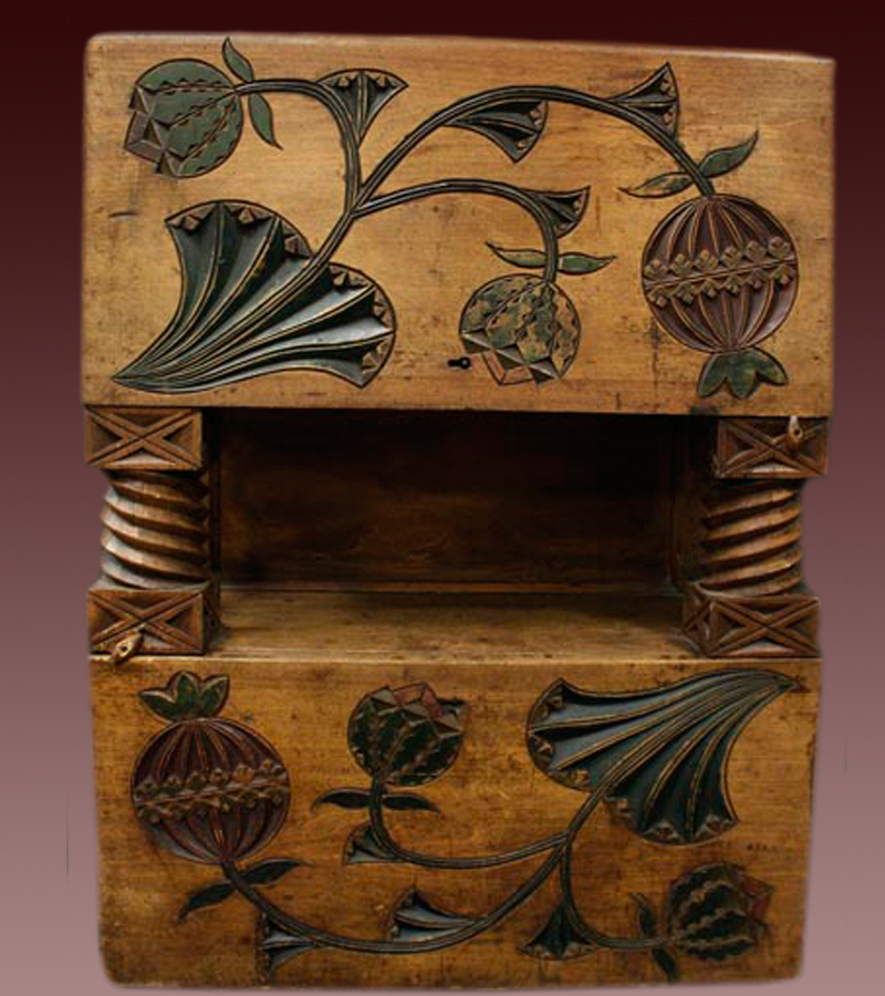 Russian Antique Carved Chest Abramtcevo