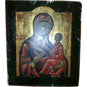 Details about  Antique Russian Orthodox Icon 18century Tikhvin Mother of God /Tikhvinskaya