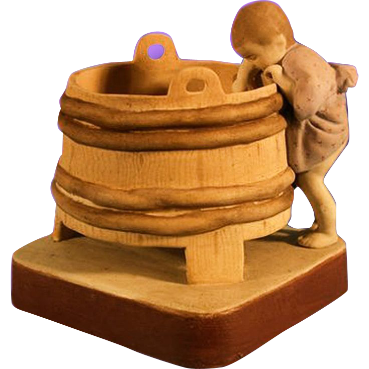 Russian Gardner Porcelain Figurine Of A Child