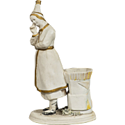 Russian Antique Porcelain Figurine Of Cheremish Woman