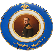 Russian Imperial Porcelain Hand Painted Plate Nicholas I
