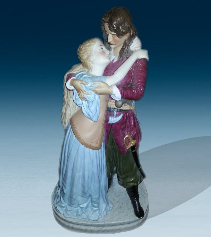 "Russian Porcelain Figurine""Parting.Andrey And Beautiful Polish Woman"""