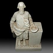Russian Old Porcelain Figurine Of  a Street Bread Seller