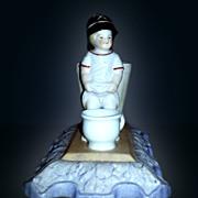 """Russian Antique Porcelain Figurine """"Childish Antics"""""""