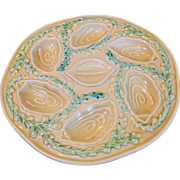 Vintage Majolica Oyster Plate
