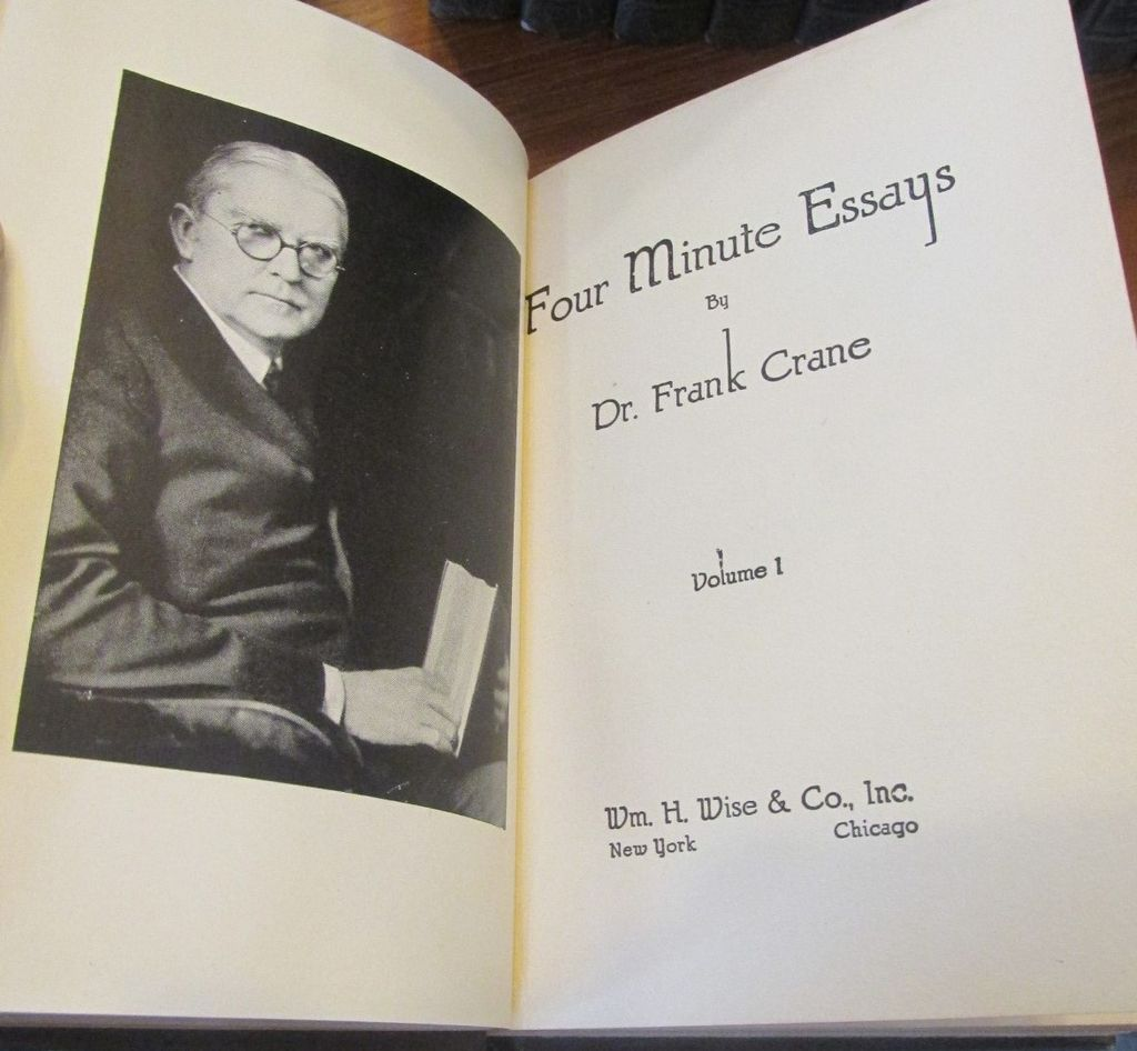 Dr.frank crane four minute essays