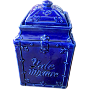 Blue Yale Mixture Tobacco Jar with Lid