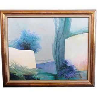 "Claude Gaveau Original Signed Painting ~ ""At the Foot of the Alpilles"""