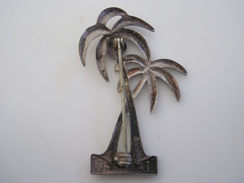 Vintage Art Deco Sterling Palm Tree Pin Silver 925 SOLD on ...