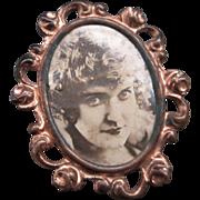 Vintage Photo Frame Brooch / Pin