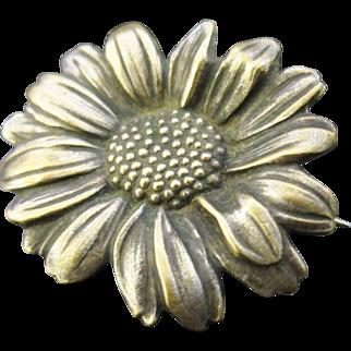 Mellerio dits Meller Antique Art Nouveau French Flower Brooch / Pin