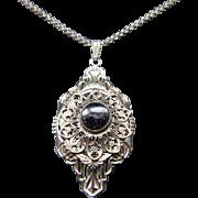 Art Deco Filigree Necklace / Pendant
