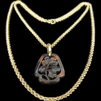 Vintage Trifari Gone Tone Flower Necklace