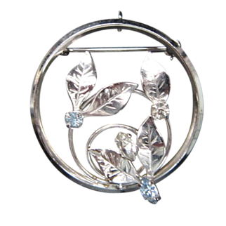 Vintage Sterling Silver Leaf Brooch / Pin Signed D'OR
