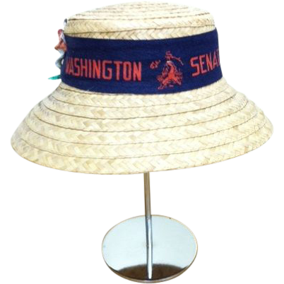 Vintage Washington Senators Baseball Straw Hat