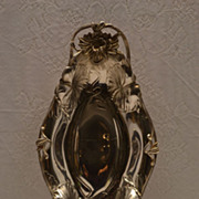 Stunning Exquisite Art Nouveau Quadruple Silver Plated Floral Server Tray Signed C. 1884 - Red Tag Sale Item