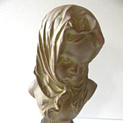 Gorgeous French Art Nouveau Bust of HIVER by Louis Kley C. 1880-1910