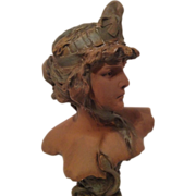 Exquisite Art Nouveau Bust of Cleopatra by P Rigual 1900-1905