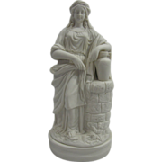 Exquisite Antique English Parian Porcelain Statue of Rebecca at the Well C. 1860