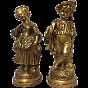 Exquisite Vintage Set of BORGHESE Plaster Renaissance Statues
