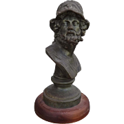 Outstanding French Victorian Bust of Greek Mythological Warrior AJAX C. 1880