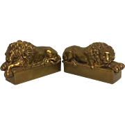 Exquisite Vintage Set of Antonio Canova Lion Bookends