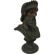 Bronzed Victorian Era Bust of Mesopotamian King Un-Signed. C. 1850-1890