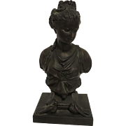 Exquisite Rare Antique French Victorian Bronzed Bust of Diane de Poitiers C. 1850=1900