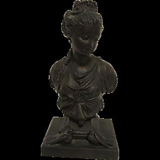 Exquisite Rare Antique French Victorian Bronzed Bust of Diane de Poitiers C. 1850=1900
